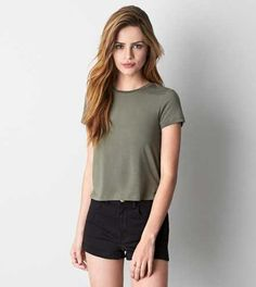 AEO Women's Soft & Sexy Baby T-shirt from American Eagle Outfitters. Saved to ❤💕. Teen Fashion, Spring Fashion, Fashion Outfits, Fashion Clothes, Casual Outfits, Cute Outfits, Punk, Mens Outfitters, Eagle Outfitters