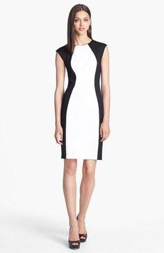 Super flattering colorblock dress.