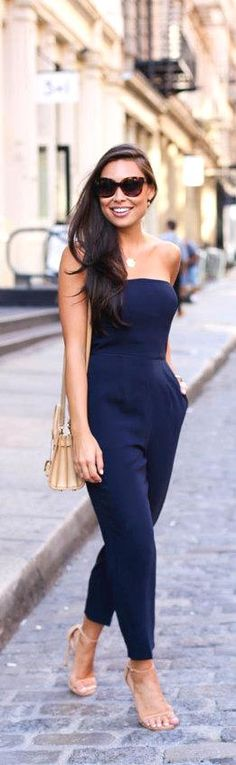 Strapless Jumpsuit / Fashion By With love From Kat