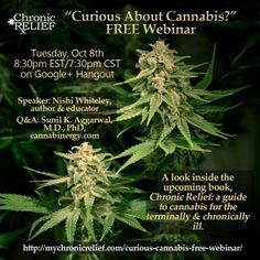 """Curious About Cannabis?"" FREE Webinar Oct 8th on Google+ Hangout"