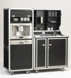 pro-art kitcase Kofferküche mit Kühlschrank