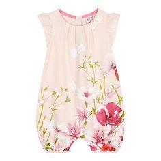 Baker by Ted Baker Baby girls' pink floral print romper- | Debenhams