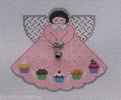Painted Pony Designs Cupcake Angel 996FG Hand Painted Needlepoint Canvas
