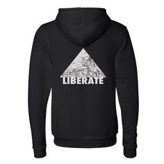 """""""Liberate"""" Unisex Zip Hoodie"""