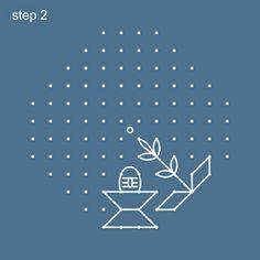 Dot Rangoli Step 2