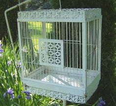 Vintage Bird Cage | Antique Bird Cage by OurShabbyCottage on Etsy