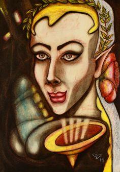 Oil Pastel Paintings, Original Paintings, Original Art, Female Portrait, Woman Portrait, Abstract Portrait, Painting Abstract, Pastel Portraits, Painting Process