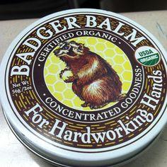 Love this stuff. #badgerbalm  #forhardworkinghands #organic #love - via @tayl0rm0ntanez