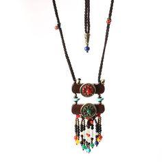 Vintage ethnic jewelry necklace wood crystal sweater women necklace necklaces pendants wholesale #3 #diamond #pendants #necklaces #interchangeable #necklace #pendants #magnetic #necklace #pendants #heart