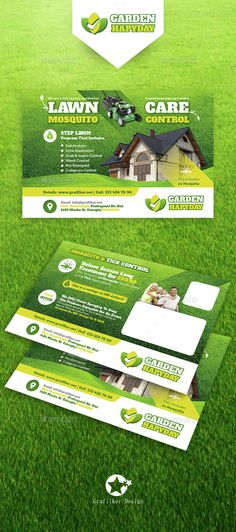 Garden Landscape Flyer Template PSD, InDesign INDD. Download here: http://graphicriver.net/item/garden-landscape-postcard-templates/14833529?ref=ksioks