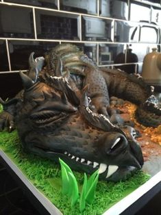 Cake international entry no 1 - cake by Paul of Happy Occasions Cakes. Cake International, Dragon Cakes, Novelty Cakes, Occasion Cakes, Dragon Art, Creative Cakes, Sculpting, Cake Decorating, Lion Sculpture