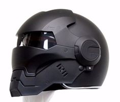 CASCO-ELMETTO-BLACK-PANTHER-IRON-MAN-MOTORCYCLE-HELMET-HERO-ABS-AUTO-NEW-M-XL