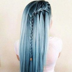 Nov 2018 - Colours of the Rainbow. See more ideas about Hair, Dyed hair and Hair styles. Pastel Blue Hair, Blue Ombre Hair, Colorful Hair, Pastel Style, Aqua Hair, Pastel Colors, Lilac Hair, Blue Style, Blue Gray Hair