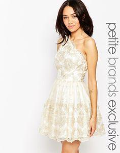 Chi+Chi+London+Petite+One+Shoulder+Lace+Prom+Dress