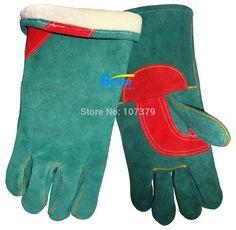 Free Shipping winter leather work glove TIG MIG safety glove warm split cow leather welder glove