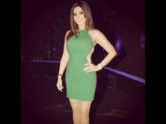 Elissa the singer Work Suits, Awards, Beautiful Women, Lily, Bodycon Dress, High Neck Dress, Singer, Formal, My Style