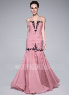 Prom Dresses - $139.99 - Trumpet/Mermaid Sweetheart Floor-Length Chiffon Tulle Prom Dress With Ruffle Lace Beading (017041148) http://jjshouse.com/Trumpet-Mermaid-Sweetheart-Floor-Length-Chiffon-Tulle-Prom-Dress-With-Ruffle-Lace-Beading-017041148-g41148