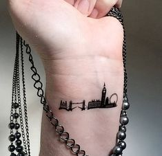 London skyline temporary tattoos