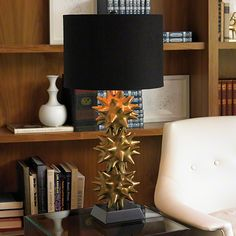 Urchin Lamp-Gold And Black...from Global Views