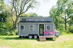 The Pomp Outpost: a beautiful tiny house available for rent at the Grange of Prince Edward Vineyard and Estates Winery.