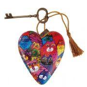 Laurel Burch Cats - Decorative Heart Ornament