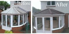 Lightweight tile conservatory roof replacement installed by Universal Windows and Doors in Bellshill, Scotland. Call 01698 735000