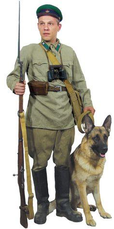 1935-1943 Soviet NKVD border guards' summer field uniform.