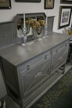 Deb - I like this look for the cabinets: Chalk Paint® decorative paint by Annie Sloan french linen paint - Bring Images - dry brush white chalk paint and clear wax
