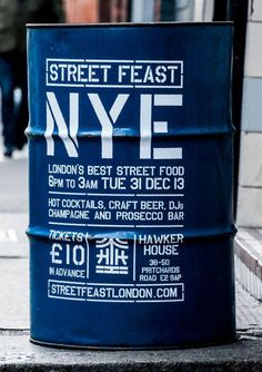 Fonts, urban, street food