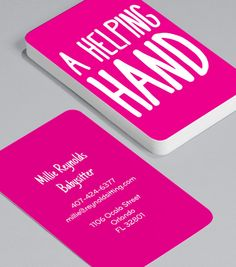 25 free pink business card templates business cards pinterest a helping hand a babysitter with a business card offers a level of professionalism designed to make leaving your children a painless experience colourmoves