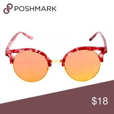 d7029983bc1 OVERSIZED ROUND MARBLE CATEYE FLAT LENS SUNGLASSES Plastic crystal marble  round cat eye sunglasses. Various mirrored flat lens glasses.