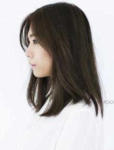 30 Trendy Hair Cuts Shoulder Length Asian Medium Hairstyles, 30 T Medium Length Hair Straight, Mid Length Hair, Medium Hair Cuts, Long Hair Cuts, Medium Hair Styles, Short Hair Styles, Asian Hair Medium Length, Straight Cut, My Hairstyle