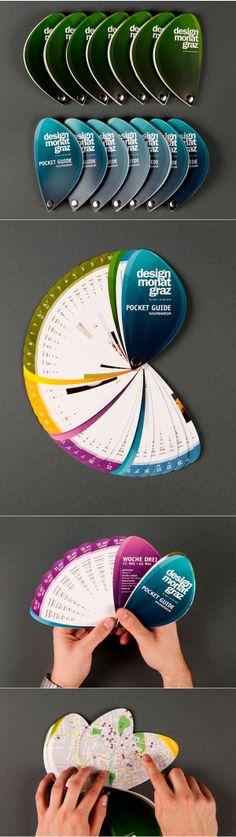 "Guia de bolsillo ""Designmonat Graz"" por Simon Hagleitner #Diseño #Gráfico #Design"