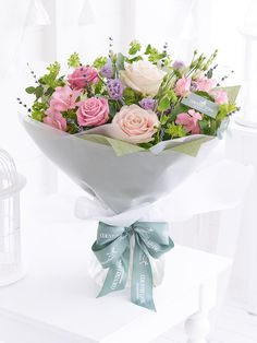 The soft pastel shades in this beautiful bouquet are not only classically feminine, they look simply enchanting too