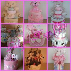 Little girl nappy cakes