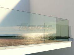Glass Stair balustrade NINFA by FARAONE design Nino Faraone, Fabrizio Zepponi, Matteo Paolini, Roberto Volpe