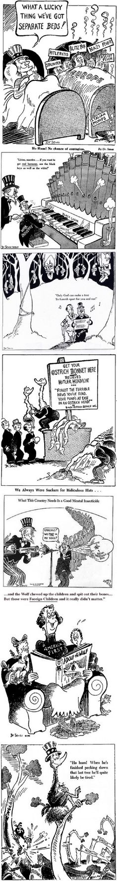 Dr. Seuss WWII Political Cartoons. These are so cool!