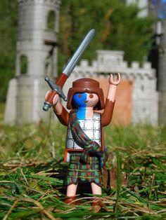 Freedom! Playmobil  ♥ Mel Gibson William Wallace, Medieval Knight, Braveheart, Illustrations, Legos, Children, Kids, Dolls, My Love