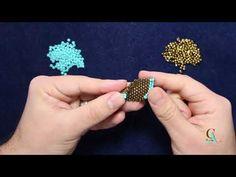 (46) Stitch - Double Seam Peyote With a Twist - Not Crochet - YouTube