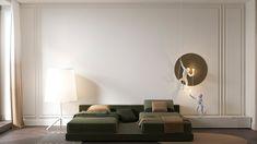 Arbat apartment on Behance Italian Interior Design, Contemporary Interior, Home Room Design, Home Design Plans, Apartment Design, House Rooms, Room Interior, Decoration, Furniture Design