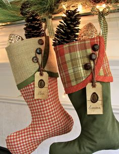 Tuscan Holiday Christmas Stockings Deep by SouthHouseBoutique