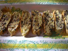 Lemon, Pistachio and Black Olive Biscotti
