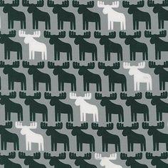 Woodland Pals 2 Moose Grey - Fabric HQ