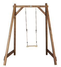 Holz-Kinder-Schaukel Axi Einzelschaukel Schaukel aus Holz - Schöne Kinderschaukel - hier hat ihr Kind garantiert Spass