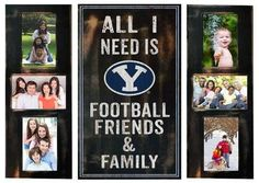 BYU Brigham Young University Picture Frame Set All I Need 3pc Frame