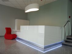 Linea # reception desk Project in Poland