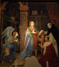 Masterpiece Annunciation in Santa Maria sopra Minerva - F. Lippi  - Annunciazione  #TuscanyAgriturismoGiratola