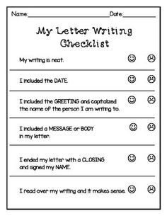 Label Parts Of A Friendly Letter Freebie  Writing