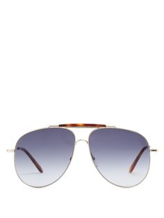 VALENTINO Aviator-style sunglasses. #valentino #sunglasses