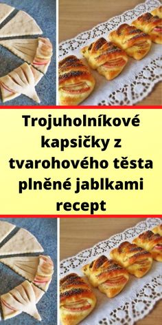 Trojuholníkové kapsičky z tvarohového těsta plněné jablkami recept Cake Recipes, Tacos, Food And Drink, Mexican, Cookies, Sweet, Ethnic Recipes, Crack Crackers, Candy